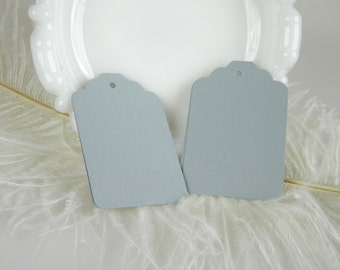 50 Gray Gift Tags / Wedding Favor Tags / Medium Size Hang Tags / Blank / Die Cut Tags / Grey Tags / Gift Tags / DIY Wish Tree Tags