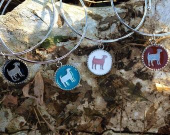 Show Goat Bangle Charm Bracelet