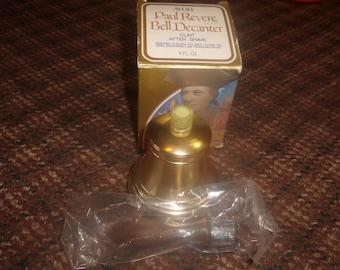 vintage avon perfume bottle paul revere bell decanter clint after shave full