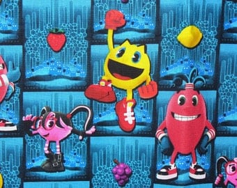 Pac Man Fabric,  Pac Man and Ghostly Adventure, Arcade Game,  Video Game, Retro Game, By the Yard