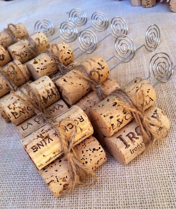 Cork Wedding Decorations: Rustic Twine Table Number Holders Rustic By