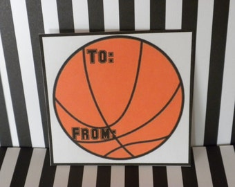 Printable Basketball Gift Tag