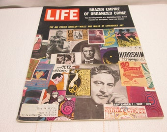 Life Magazine September 1967, Posters, 7 up, Olympia Beer, Vietnam, vintage advertising