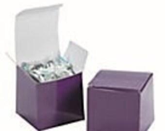 Purple Favor boxes-Plum Purple-12 EA.