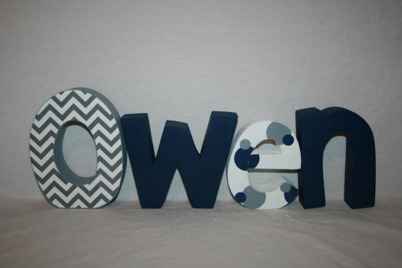 baby boy nursery letters wood letters 4 letter set personalized wood letters