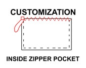 Inside zipper pocket upgrade for your tote bag