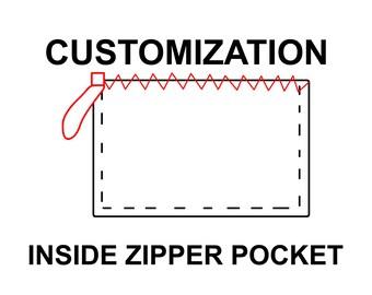 Inside zipper pocket upgrade for your tote bag