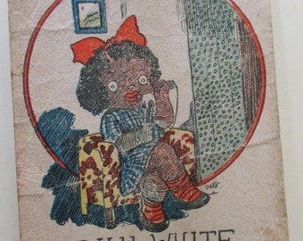 Antique Playing Card - Old Maid, Lily White, children, game