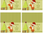"""Have a VERY hip Christmas (4 4x4"""" bag toppers open) and 1 individual bag topper"""