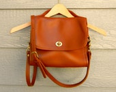 Vintage 70s Brown Leather Wrist and Cross-Body Bag