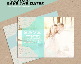 Seafoam Bliss | Photoshop Save-The-Date Template for Photographers