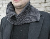 Knitting Pattern / Knitting Cowl Pattern / Knitting Men Scarf Pattern / Knitting Men Cowl Pattern / Unisex Scarf Pattern