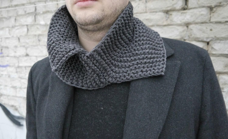 Knitting Pattern / Knitting Cowl Pattern / Knitting Men Scarf