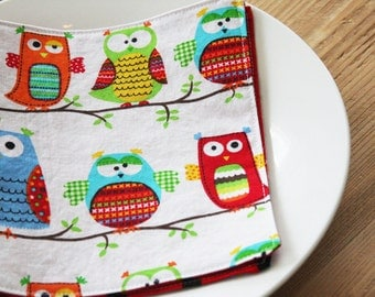 Lunchbox Napkins - Hoot Hoot Owls on a branch