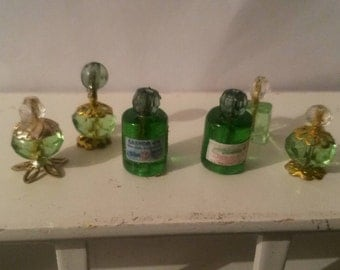 Clear perfume bottles on tray 1/12th