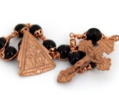 Unbreakable single Decade Rosary - Scapular Medal/Pardon Crucifix- SOLID COPPER