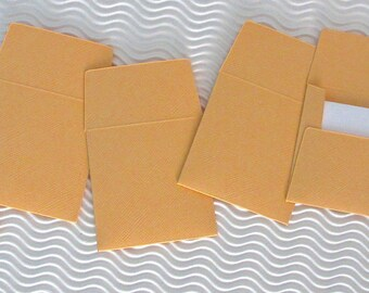 36+ teeny tiny envelope note card sets handmade melon orange mini miniature square party favors weddings stationery guest book