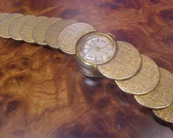 Bourdeaux Geneve Gold Plated 17 Jewels Greek Shield Watch  Vintage 60s  Style 1/20 12K