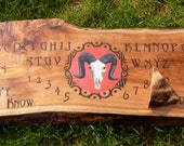 Ouija Board Ram Skull Red Gothic Pagan Wiccan Spirit Game With Planchette