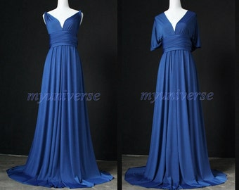 Cobalt Blue Bridesmaid Dress Infinity Dress Wrap Formal Dress Flower Girl Dress Evening Gown