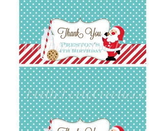 SANTA MILK and COOKIES bag toppers  - You Print