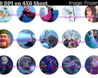 Buy ONE get FOUR FREE Frozen 1 Inch Bottlecap Images 4x6 Sheet Buy