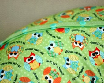 PUL - Owls - Diaper Cut  21 x 24