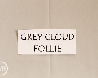 Follie Solid in Grey Cloud, Lotta Jansdotter, Windham Fabrics, 100% Cotton Fabric,  353621-9