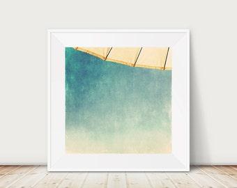 umbrella photograph mint home decor beach photograph abstract print umbrella print beach house decor ombre print beach print