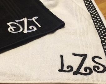 Towel Wrap, Couple Towel Set, Honey Moon, Wedding Gift, Personalized Towel Wrap