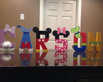Mickey Mouse Club Custom Name Letters - price is per letter