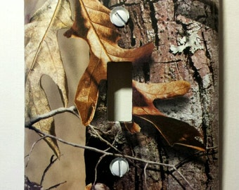 RealTree Camo Light Switch Cover - Single or Double switch plate