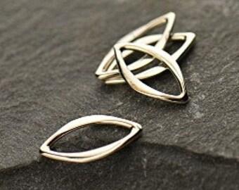 Shop Sale - 10pcs Sterling Silver Tiny Marquis Link, Teardrop Infinity Charm, Pendant - 11x5.5mm,  Charm, Fluid Link, Links