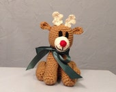 Rudolf the Red Nosed Reindeer - Stuffed Animal - Amigurumi