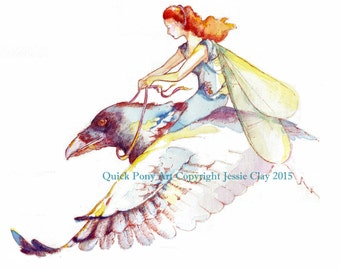 Mayfly Fairy with Raven