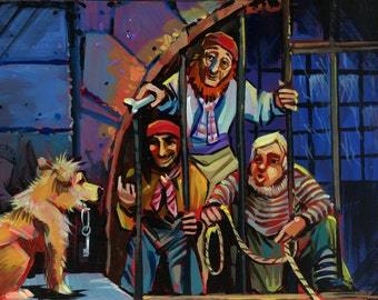 Pirates and dog print by Shaunna Peterson