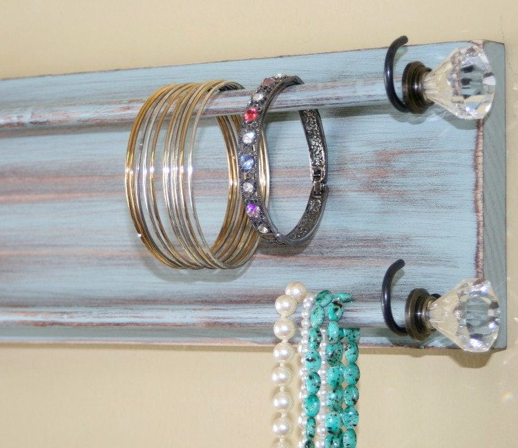 Jewelry holder organizer bracelet holder rack headband wall for Bangle organizer diy