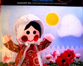 Vintage Avon Creative Needlecraft Doll Making Kit Calico Kate Doll