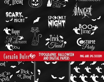 Halloween typos - Personal and Commercial Use Clip Art-INSTANT DOWNLOAD