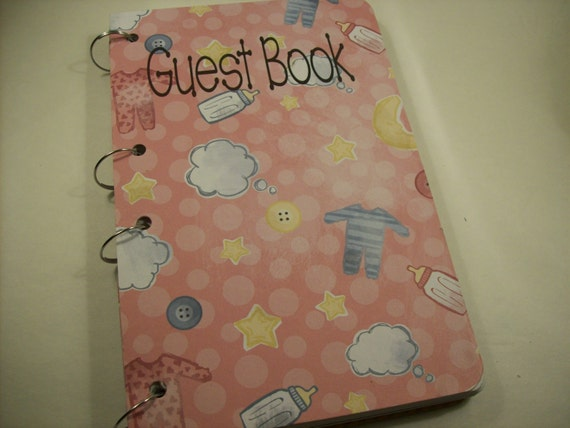 baby shower guest book sign in book new mom advice book baby girl