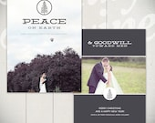 Christmas Card Template: Winter Bright B - 5x7 Holiday Card Template for Photographers