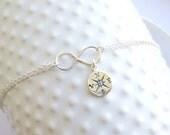 Sterling Silver Infinity Compass Bracelet... Friendship... Love