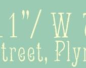Vintage Handpainted Latitude Longitude Sign, Summer Street(Reserve Listing for Angela B.)