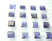 10 Pc Gorgeous Blue Iolite Square Cut Stone 7x7mm Wholesale Price