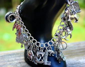 Magic Theme Charm Bracelet - Werewolf - Urban Fantasy - Vampire - ShapeShifter - Paranormal - Mythology - Kate Daniels Series - Author Swag