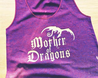 Mother of Dragons Women's American Apparel Racerback Tank - Inspired by Game of Thrones - Made in USA - by So Effing Cute