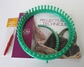Reader's Digest New Knitting Loom with Book and Hook Tool