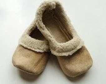 Handcrafted Womens Sherpa Loafers - Womens House Shoes - Gifts for Her - Soft Fabric Slippers