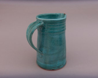 Turquoise Pottery Pitcher -  Earthenware Pitcher