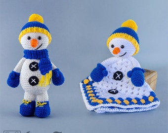 Combo Pack - Snowman Lovey and Amigurumi Set for 7.99 Dollars - PDF Crochet Pattern - Instant Download - Special Offer Pattern Pack